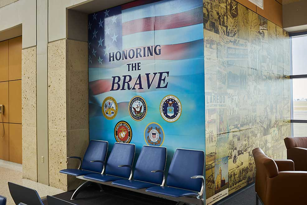 "Laredo International Airport New Mural ""The Heroe' Hanger""."